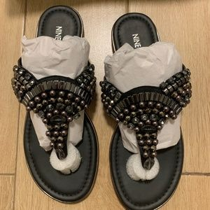 Nine West Black Onawa Jewels Sandals